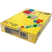 FLYING COLOURS COLOURED A4 COPY PAPER 80GSM LEMON DAFFODIL PACK 500 SHEETS