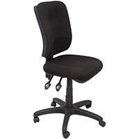 RAPIDLINE ERGONOMIC TYPIST CHAIR SQUARE BACK SEAT/BACK TILT BLACK
