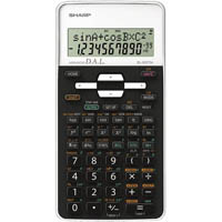 SHARP EL531TH SCIENTIFIC CALCULATOR WHITE/BLACK