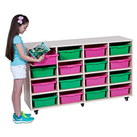 ELIZABETH RICHARDS MOBILE STORAGE UNIT 16 BAY 1440 X 450 X 860MM