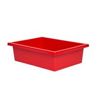 ELIZABETH RICHARDS PLASTIC TOTE TRAY RED