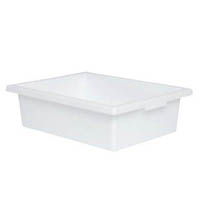 ELIZABETH RICHARDS PLASTIC TOTE TRAY WHITE