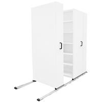 APC EZISLIDE AISLE SAVER 5 SHELVES 2500 X 2175 X 1200 X 400MM WHITE