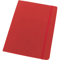 MODENA LARGE PU JOURNAL 181 X 250MM 192 PAGE RED