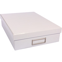 MODENA DOCUMENT BOX A4 GLOSSY WHITE