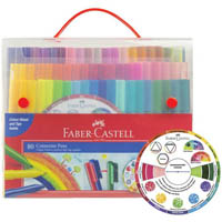 FABER-CASTELL CONNECTOR PENS WITH COLOUR WHEEL ASSORTED PACK 80