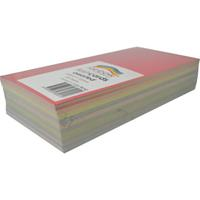 RAINBOW COLOURED FLASH CARD 203 X 102MM 100 SHEETS ASSORTED
