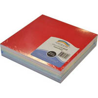 RAINBOW COLOURED SQUARE CARD 203MM 100 SHEETS ASSORTED