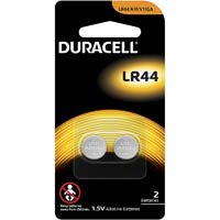 DURACELL LR44 A76 ALKALINE BUTTON CELL BATTERY PACK 2