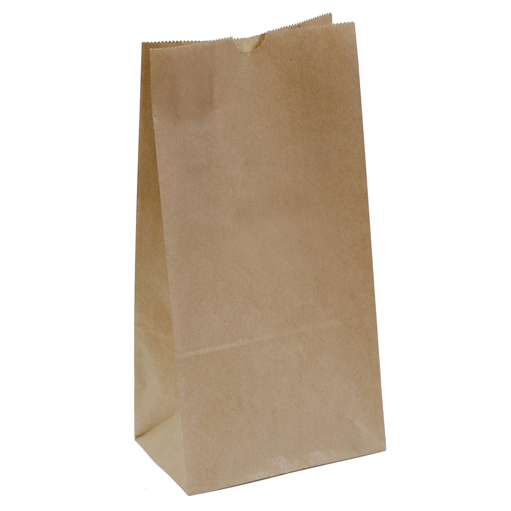 CAPRI PAPER BAG SELF-OPENING SIZE 8 BROWN PACK 1000