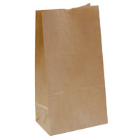 CAPRI PAPER BAG SELF-OPENING SIZE 12 BROWN PACK 500