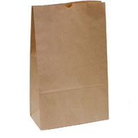 CAPRI PAPER BAG SELF-OPENING SIZE 16 BROWN PACK 250