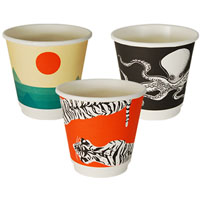 ENVIROCHOICE GALLERY DOUBLE WALL COFFEE CUP 8OZ PACK 25