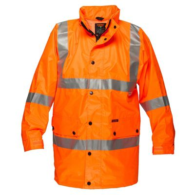 Image for PRIME MOVER MF306 FULL HI VIS RAIN JACKET WITH 3M TAPE from Office National Port Augusta
