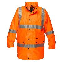 PRIME MOVER MF306 FULL HI VIS RAIN JACKET WITH 3M TAPE