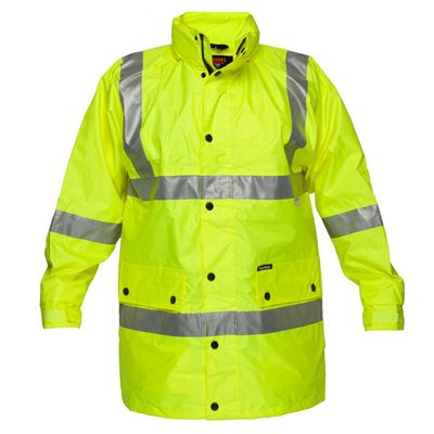 Image for PRIME MOVER MF306 ARGYLE FULL HI VIS RAIN JACKET WITH TAPE YELLOW LARGE from Office National Port Augusta