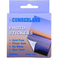 CUMBERLAND PHOTO STICKERS CLEAR SELF ADHESIVE SELF DISPENSING PACK 600