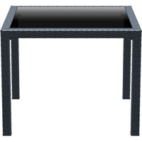 SIESTA BALI TABLE 940 X 940MM ANTHRACITE