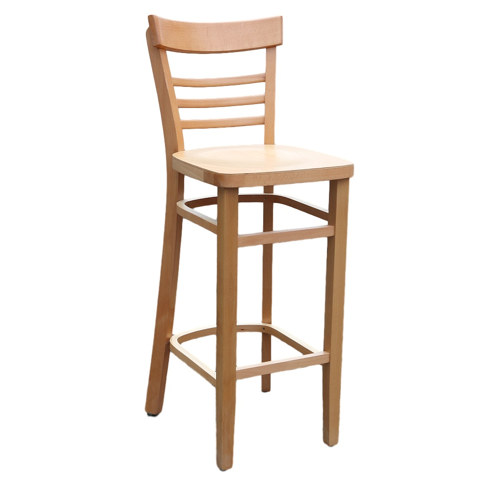 Image for vienna barstool natural timber seat from coffs coast office national