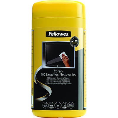 Image for FELLOWES VIRASHIELD SURFACE CLEANING 100 WIPE TUB from Express Office National