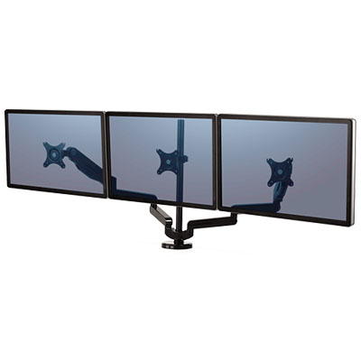 Image for FELLOWES PLATINUM SERIES MONITOR ARM TRIPLE from Paul John Office National