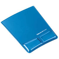 FELLOWES GEL MOUSE PAD AND WRIST REST BLUE
