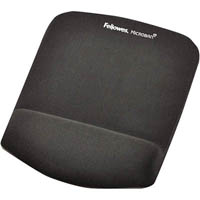 FELLOWES MOUSE PAD WITH PLUSH TOUCH WRIST REST WITH MICROBAN GRAPHITE