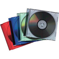 FELLOWES CD JEWEL CASE SLIMLINE COLOURS PACK 25