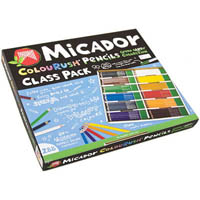 MICADOR COLOURUSH PENCILS FSC ASSORTED CLASSPACK 288