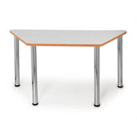 QUORUM GEOMETRY MEETING TABLE TRAPEZOID 1500 X 750MM