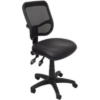 RAPIDLINE OPERATOR CHAIR MEDIUM MESH BACK PU BLACK