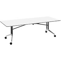 RAPID EDGE FOLDING TABLE 2400 X 1000 X 743MM BRILLIANT WHITE