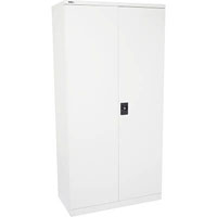 INITIATIVE STATIONERY CUPBOARD 4 SHELVES 910 X 450 X 2000MM WHITE CHINA