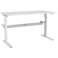 RAPIDLINE RAPID PARAMOUNT SINGLE OPEN ELECTRIC HEIGHT ADJUSTABLE WORKSTATION 1800 X 750 X 607MM WHITE