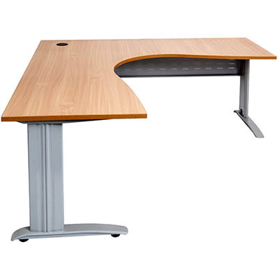 Image for RAPID SPAN CORNER WORKSTATION METAL MODESTY PANEL 1800 X 1800 X 700MM BEECH/SILVER from Pirie Office National