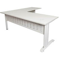 RAPID SPAN DESK AND RETURN METAL MODESTY PANEL 1800 X 700MM / 1100 X 600MM WHITE/WHITE