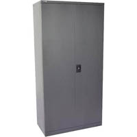 GO STEEL CUPBOARD 3 SHELVES 910 X 450 X 1830MM FLAT PACKED GRAPHITE RIPPLE