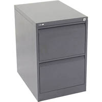 GO STEEL FILING CABINET 2 DRAWERS 460 X 620 X 705MM GRAPHITE RIPPLE