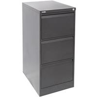 GO STEEL FILING CABINET 3 DRAWERS 460 X 620 X 1016MM GRAPHITE RIPPLE
