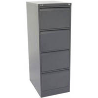GO STEEL FILING CABINET 4 DRAWERS 460 X 620 X 1321MM GRAPHITE RIPPLE