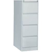 GO STEEL FILING CABINET 4 DRAWERS 460 X 620 X 1321MM SILVER GREY