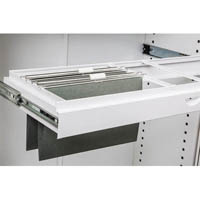 GO ROLL OUT SUSPENSION FILE FRAME FOR 900MM TAMBOUR CUPBOARD WHITE CHINA