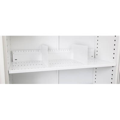 Image for GO SLOTTED SHELF FOR 1200MM TAMBOUR DOOR CUPBOARD WHITE CHINA from Pirie Office National