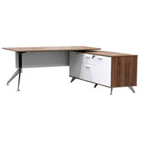 POTENZA MANAGER DESK WITH BUFFET RIGHT HAND RETURN 2150 X 1850 X 750MM