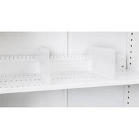 GO SHELF DIVIDERS FOR TAMBOUR CUPBOARD SLOTTED SHELF WHITE CHINA PACK 5