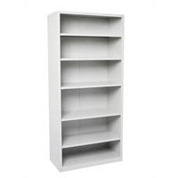 GO STEEL SHELVING UNIT 5 ADJUSTABLE SHELVES 2200 X 900 X 400MM SILVER GREY