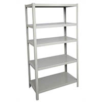 RAPIDLINE BOLTLESS SHELVING UNIT 5 SHELVES 1830 X 1220 X 457MM SILVER GREY