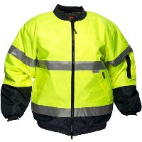 PRIME MOVER MJ504 DAY/NIGHT HI VIS WATERPROOF BOMBER JACKET WITH ZIP 2 TONE
