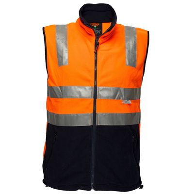 Image for PRIME MOVER MF514 POLAR FLEECE VEST WITH 3M TAPE 2 TONE ORANGE NAVY LARGE from Wetherill Park / Smithfield Office National