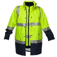 PRIME MOVER MJ887 ANTI-STATIC JACKET 4-IN-1 WITH ZIP 2 TONE